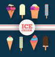 Ice-cream design set vector image
