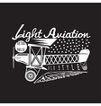 retro aviation design with airplane and wings vector image