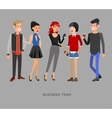 detailed characters people business team vector image