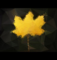 autumn maple leaf - abstract low poly art vector image