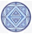 Beautiful Aztec tribal mandala ornament vector image