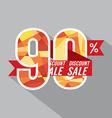 Discount 90 Percent Off vector image