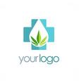 medic cannabis leaf logo vector image