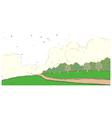Park landscape vector image
