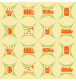 Seamless background with oil and petroleum theme vector image