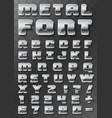 metal font 3d on a transparent background vector image