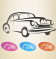 old retro car symbol vector image