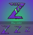 Halloween decorative alphabet - Z letter vector image