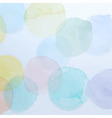 Watercolor Colorful Circles Background vector image vector image