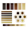Set of coffee ribbons vector image vector image