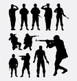 Soldier military silhouettes vector image