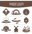 Set of bakery logos labels badges vector image vector image