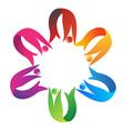 Teamwork helping logo vector image vector image