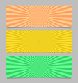 abstract colorful ray burst banner template set vector image