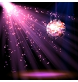 Disco ball background with light vector image