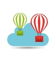 email balloon cloud mail vector image