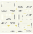 Geometric lines seamless pattern with golden vector image