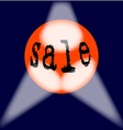 Globe Sale Sign vector image
