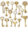 Golden Keys Set vector image