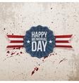 Happy Memorial Day patriotic Banner with Text vector image