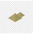 isolated pyramids isometric egypt elemen vector image