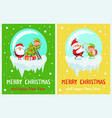 merry christmas elf with star vector image