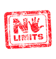 No limit red grunge rubber stamp vector image