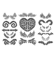 Set of Floral doodle collection vector image