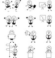 businessman activity set cartoon vector image vector image