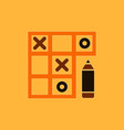 in flat style tic tac toe vector image