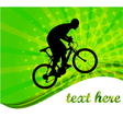 bicyclist -abstract background vector image