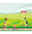 Cycling on a sunny day vector image vector image