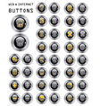 set buttons web vector image