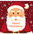 Full Face Santa Merry Christmas vector image