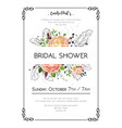 bridal shower boho art wedding watercolor vector image