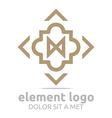 brown element arrow arch design symbol icon vector image