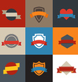 Collection of color flat labels Template for a vector image