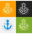 Drawing business formulas anchor vector image