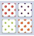 Icons set flat design fruit seamless pattern vector image