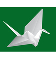 Japanese paper crane vector image