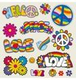 Retro hippie patches emblems vector image