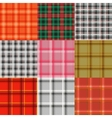Set of tartan Plaid varicoloured pattern vector image