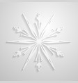 snowflake paper snowflakes design vector image