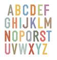 vintage kids alphabet colorful letters vector image