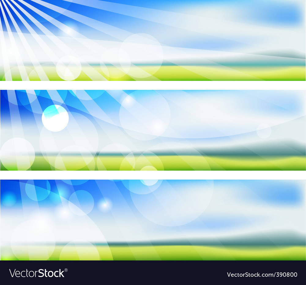 Summer blurs banners vector