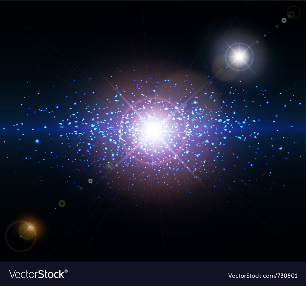 Abstract background space vector