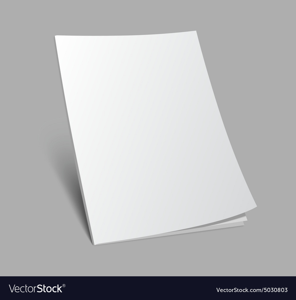 3d blank standing magazine cover vector