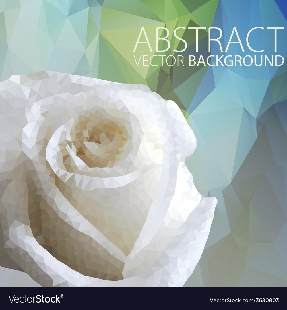 Abstract backgroundgeometric flower made from vector