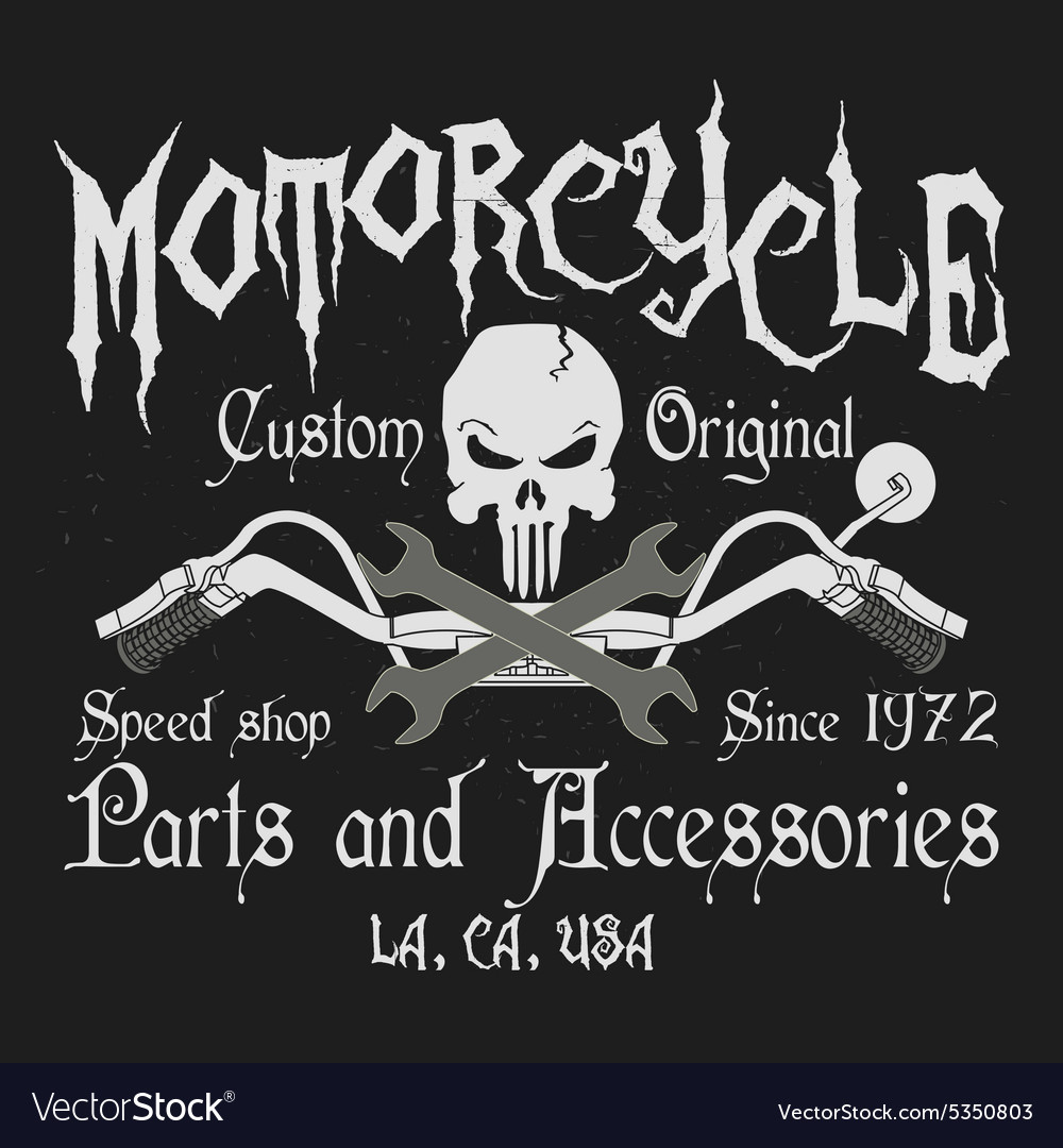 Motorcycle typography graphics vector