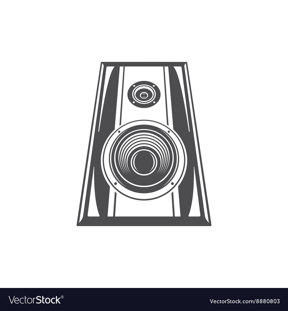 Sound speaker glasses isolated on white background vector
